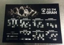 2017-18 Brooklyn Nets We Go Hard Magnetic Schedule Lot Barc