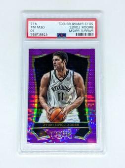 2013-14 Select Prizms Purple #17 Brook Lopez /99 PSA GEM MIN