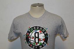 2014-15 Kevin Garnett ADIDAS Brooklyn Nets Gray boys  T Shir