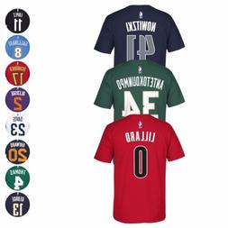2016-17 NBA Adidas Official Player Name & Number Jersey T-Sh