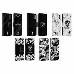 NBA 2018/19 BROOKLYN NETS LEATHER BOOK WALLET CASE FOR APPLE