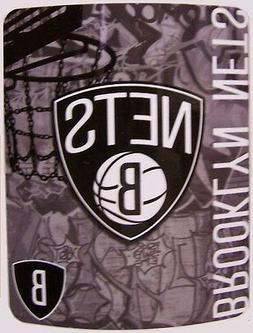 """Blanket Fleece Throw NBA Brooklyn Nets NEW 50""""x60"""" with"""