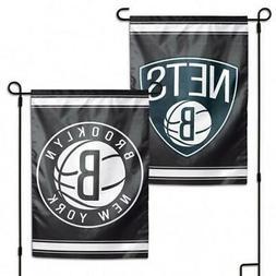 "Brooklyn Nets 2 Sided 12.5"" x 18"" Garden Flag  NBA Banner Si"