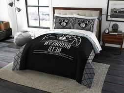 Brooklyn Nets - 3 Pc FULL / QUEEN SIZE Printed Comforter / S