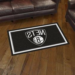 Brooklyn Nets 3' X 5' Decorative Ultra Plush Carpet Area Rug