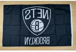 Brooklyn Nets 3x5 Foot Banner Flag New Black Basketball