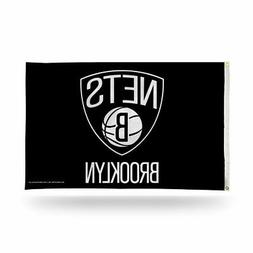 Brooklyn Nets 3x5 NBA Banner Flag with grommets for hanging