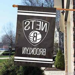 """Brooklyn Nets 44"""" x 28"""" Applique and Embroidered 2-Sided  Ba"""
