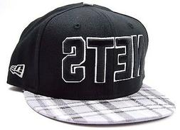 Brooklyn Nets New Era 9FIFTY Plaid Visor NBA Basketball Snap
