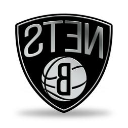 Brooklyn Nets Auto Emblem. Adhesive Backing.   #936