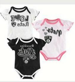 Brooklyn Nets Baby Girls 3 Pack Bodysuit Set 3-6 Months NWT
