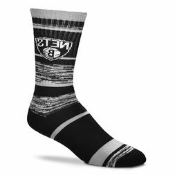 Brooklyn Nets Basketball 504 RMC Stripe Deuce Crew Socks
