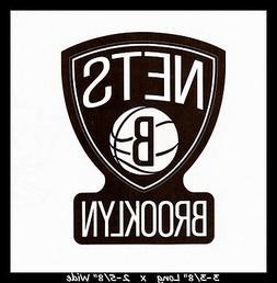 BROOKLYN NETS BASKETBALL NBA DECAL STICKER TEAM LOGO~BUY 1 G