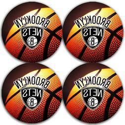 Brooklyn Nets Basketball Rubber Round Coaster set  / RNDRBRC
