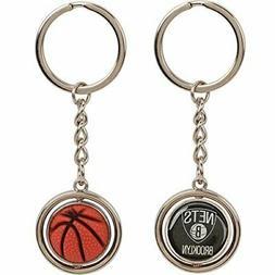Brooklyn Nets Basketball Spinner Keychain