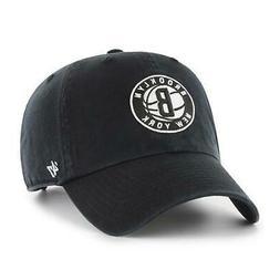 Brooklyn Nets Black 47 Brand Clean Up Dad Hat