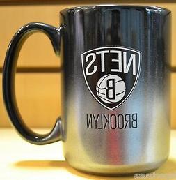 Brooklyn Nets Black Chrome Coffee Mug 15 oz.