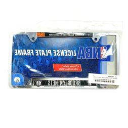 Brooklyn Nets Chrome Metal License Plate Tag Frame Cover NBA