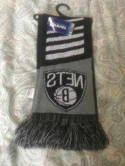 brooklyn nets collectibles knit scarf unisex logo