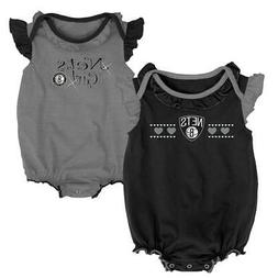 Brooklyn Nets Creeper 2 Pack Homecoming Bodysuit Set