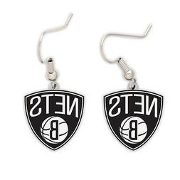 BROOKLYN NETS DANGLE EARRINGS NEW & OFFICIALLY LICENSED