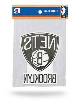 Brooklyn Nets Die Cut Static Cling Decal Sticker 5 X 4 NEW!!