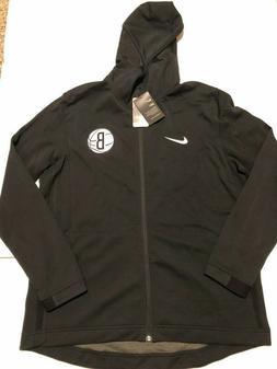Nike  Brooklyn Nets Dry Showtime Hoodie Black  Men's L NWT