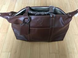 Brooklyn Nets Faux Leather Duffle Style Bag