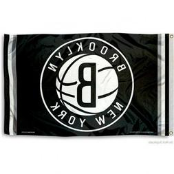 BROOKLYN NETS FLAG 3'X5' NBA LOGO BANNER: FAST FREE SHIPPING