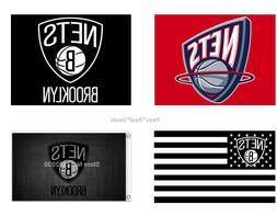 Brooklyn NETS Flag 3x5 Ft Polyester Mancave Outdoor NEW! NBA