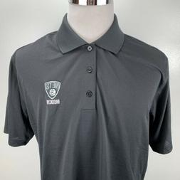 Adidas Brooklyn Nets Full Color Primary Logo ClimaLITE Polo