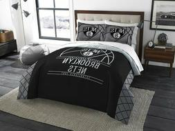 brooklyn nets full queen comforter and shams