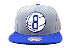 Brooklyn Nets Gray Royal Blue White Ball NBA Mitchell & Ness
