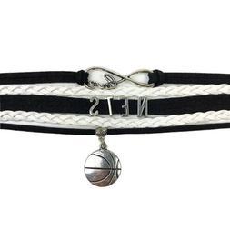 Brooklyn Nets Infinity Jewelry Bracelet NBA Basketball Charm