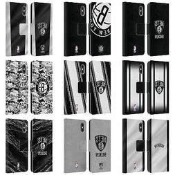 NBA BROOKLYN NETS LEATHER BOOK WALLET CASE COVER FOR APPLE i