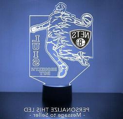 Brooklyn Nets Night Light, Personalized FREE, LED Basketball