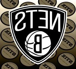 brooklyn nets logo nba color die cut