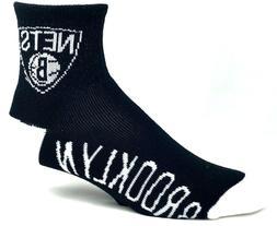 Brooklyn Nets Men's Quarter Socks Deuce New