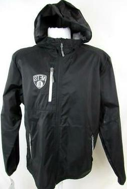 Brooklyn Nets Mens Large Full Zip Embroidered Hooded Windbre