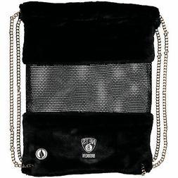 Brooklyn Nets Mesh Gold Chain Drawstring Bag