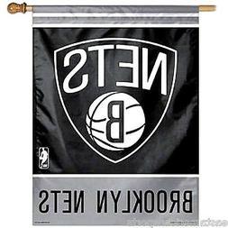Brooklyn Nets NBA 27 x 37 Vertical Hanging Wall Flag Fan Ban