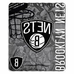 """Brooklyn Nets NBA Northwest 50""""x60"""" Hard Knocks Fleece Throw"""