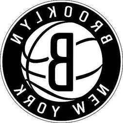Brooklyn Nets NBA Basketball bumper sticker wall decor, viny
