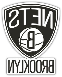 "Brooklyn Nets  NBA Basketball Car Bumper Sticker Decal ""SIZE"