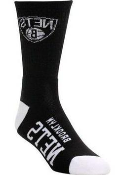 Brooklyn Nets Basketball 504 Black & White Deuce Logo Crew S