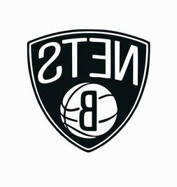 Brooklyn Nets NBA Basketball Full Color Logo Sports Decal St