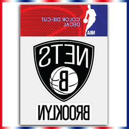 "Brooklyn nets NBA Die Cut Vinyl Sticker Car Bumper Window 4"""