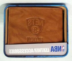 Brooklyn Nets NBA Embossed Leather Billfold Wallet FREE US S