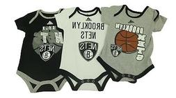 Brooklyn Nets NBA Official Infant Baby Size 3 Piece Creeper