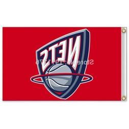 Brooklyn Nets New Jersey 3x5 Ft Flag Basketball New Grommets